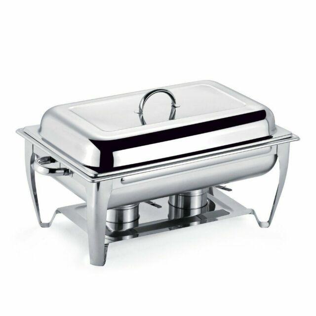Magnificent Stainless Steel Rectangular Chafing Dish Buffet Warmer Set 9 5 Quart 9L Chafer Interior Design Ideas Apansoteloinfo