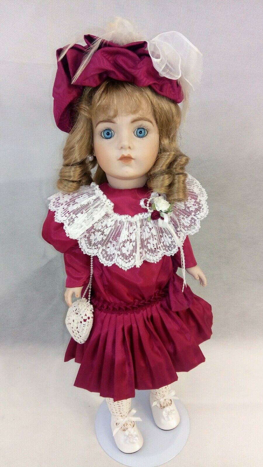 Bru Jne Pauline Marie Malnar Rahija- Reproduction 21  Tall with Stand GORGEOUS