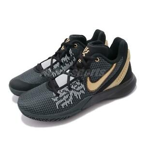 7f85494c0e81 Nike Kyrie Flytrap II EP Irving Black Gold Grey Men Basketball Shoes ...