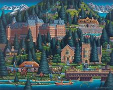 DOWDLE FOLK ART COLLECTORS JIGSAW PUZZLE BANFF LAKE 500 PCS #00219