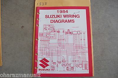 1984 SUZUKI Motorcycle & ATV Wiring Diagrams Manual | eBay