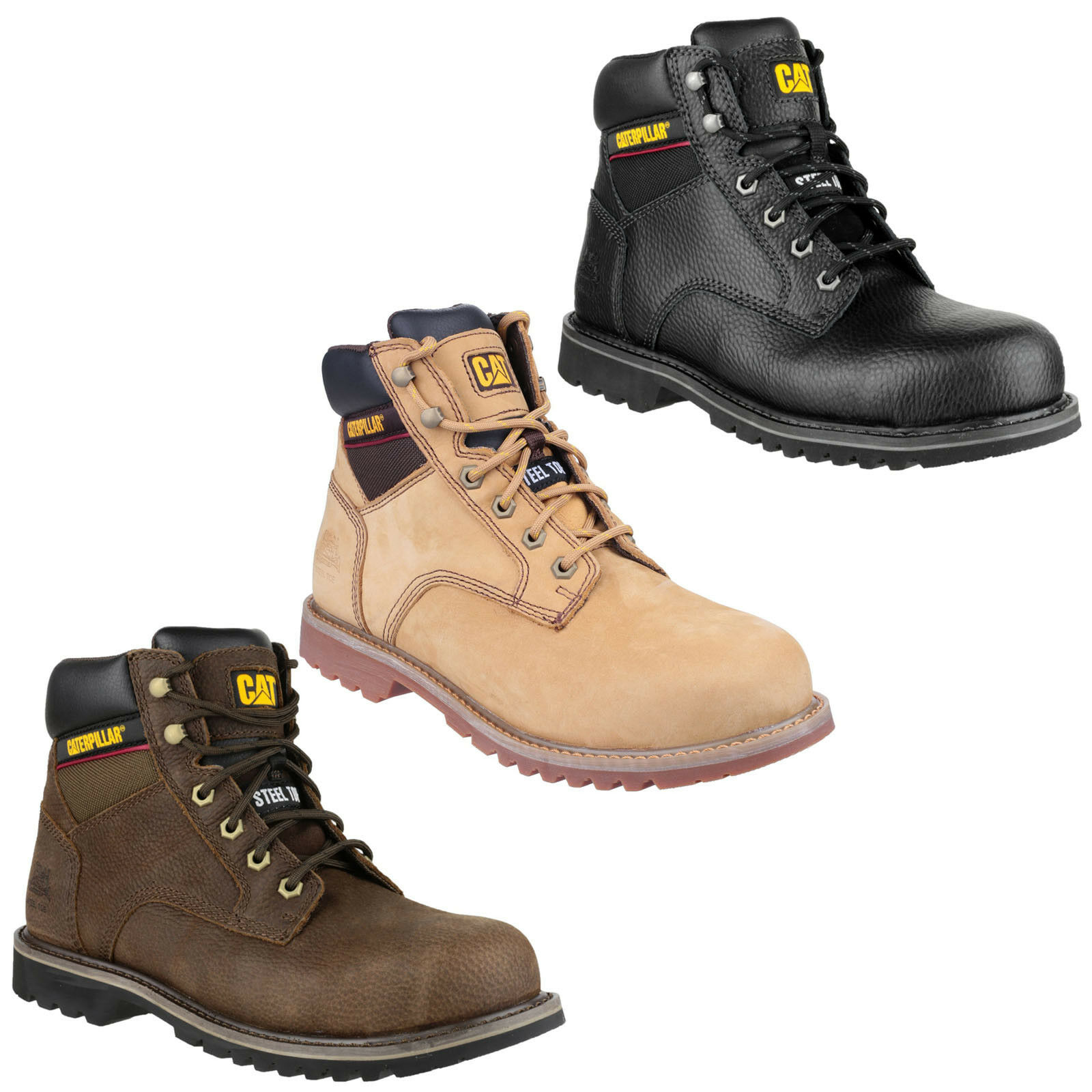 CAT Caterpillar Electric 6  Safety Goodyear Welted Mens Work Stiefel UK6-12