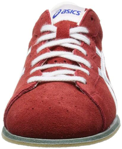 23cm ASICS Weight Lifting Shoes 727 Red White Leather US4.5 EMS w// Tracking