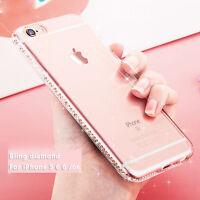 Luxury Bling Glitter Soft Diamond TPU Phone Case Cover For iPhone SE 5 6s 7 Plus
