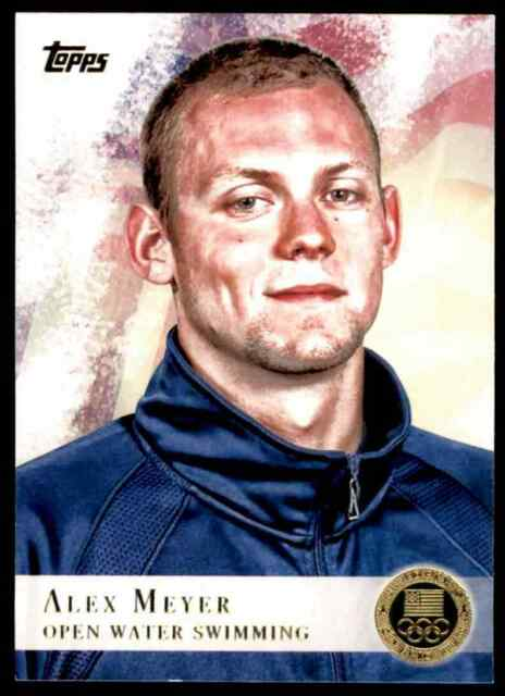 2012 TOPPS OLYMPICS GOLD ALEX MEYER OPEN WATER SWIMMING #99 PARALLEL