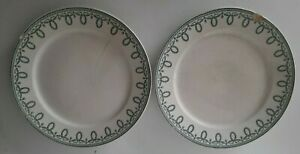 Lot-2-assiettes-Boch-freres-modele-Bonaparte-la-louvriere-24-cm-une-felee