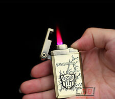 Transformers Pattern Windproof Jet Torch Butane Cigarette Lighter Gas Refillable