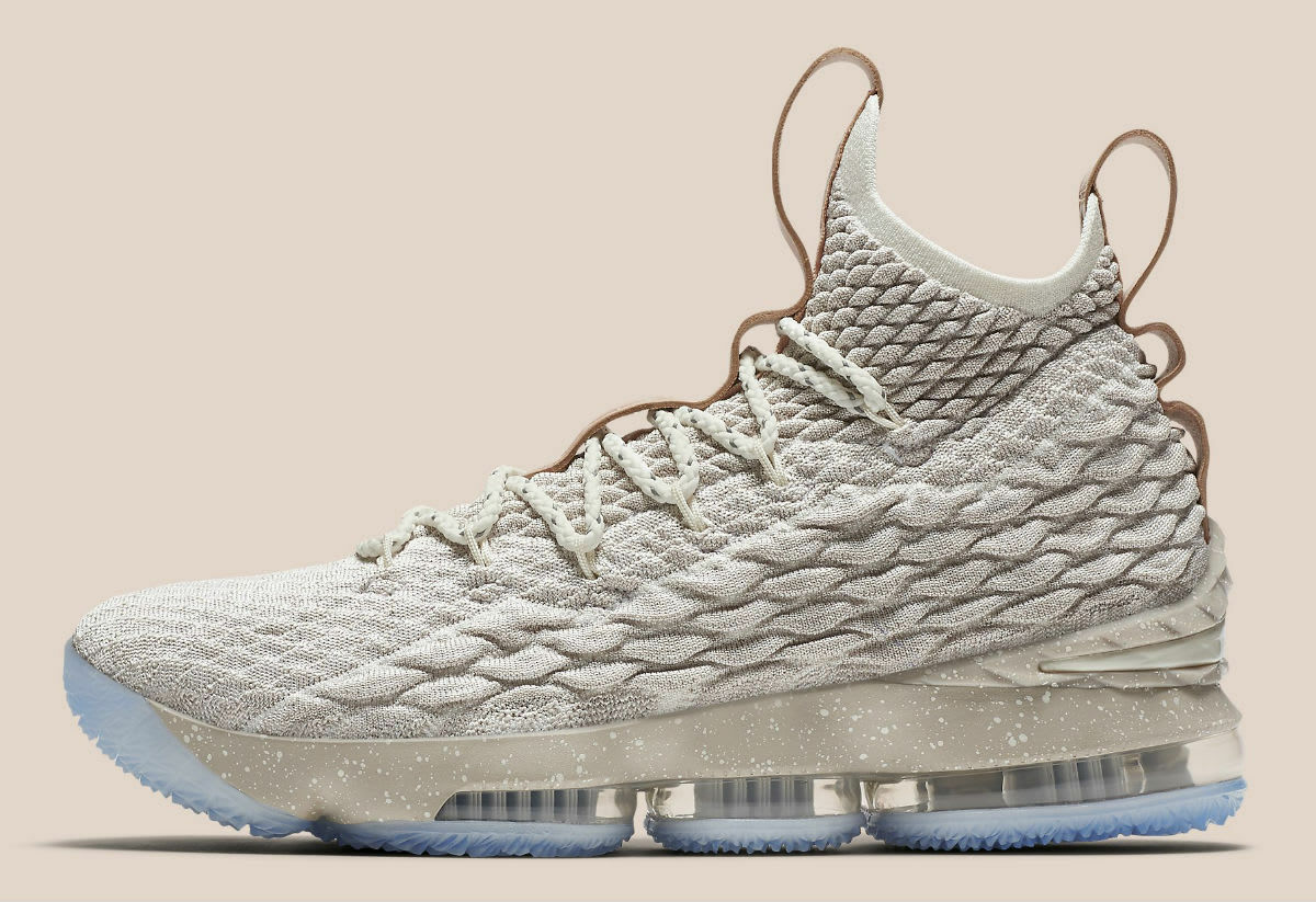 2017 Nike LeBron 15 XV Ghost String Tan Size 15. 897648-200 ronnie fieg kith