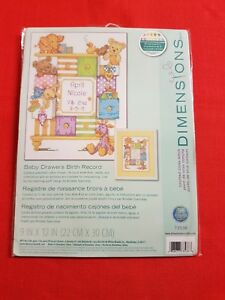 Dimensions-Baby-Drawers-Birth-Record-Counted-Cross-Stitch-Kit-Multi-Coloured