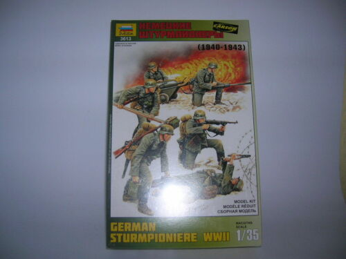 Zvezda 6 Figurines German German Sturmpioniere WWII 1:3 5 Kit Model Set 3613