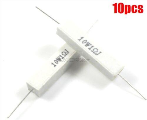 10 Stücke 10 Watt Watt 1R 1Ohm 5/% Keramischen Zement Leistungswiderstand New hr