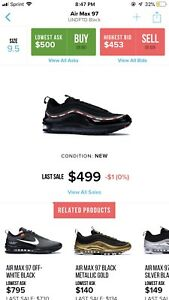 online store 2279c 26ec1 Details about Nike Air Max 97 x OG Undefeated Size 9.5 Off White Travis  Scott BAPE