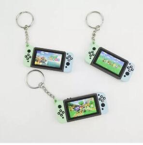 Nintendo switch mini game Green blue keychain gamer gift video Animal Crossing