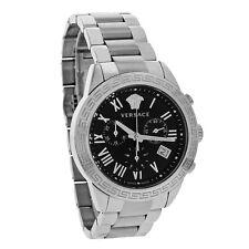 Versace Landmark Mens Black Dial Swiss Quartz Chronograph Watch P6C99GD008 S099