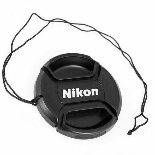 nuovo con confezione UK stock Nikon LC-58 copriobiettivo per filettatura del filtro 58mm Centro Pinch Stile