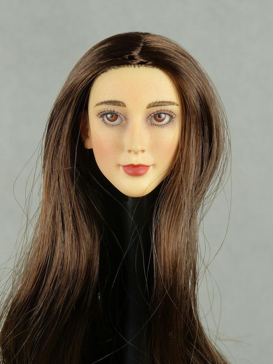 16 Wondery, Phicen, caliente Stuff, caliente giocattoli Sexy Angela 03 Female Anime Head Sculpt