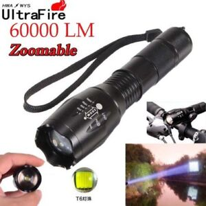 Zoomable-60000LM-T6-5-Modes-Tactical-18650-Flashlight-Focus-Light-Torch-USA