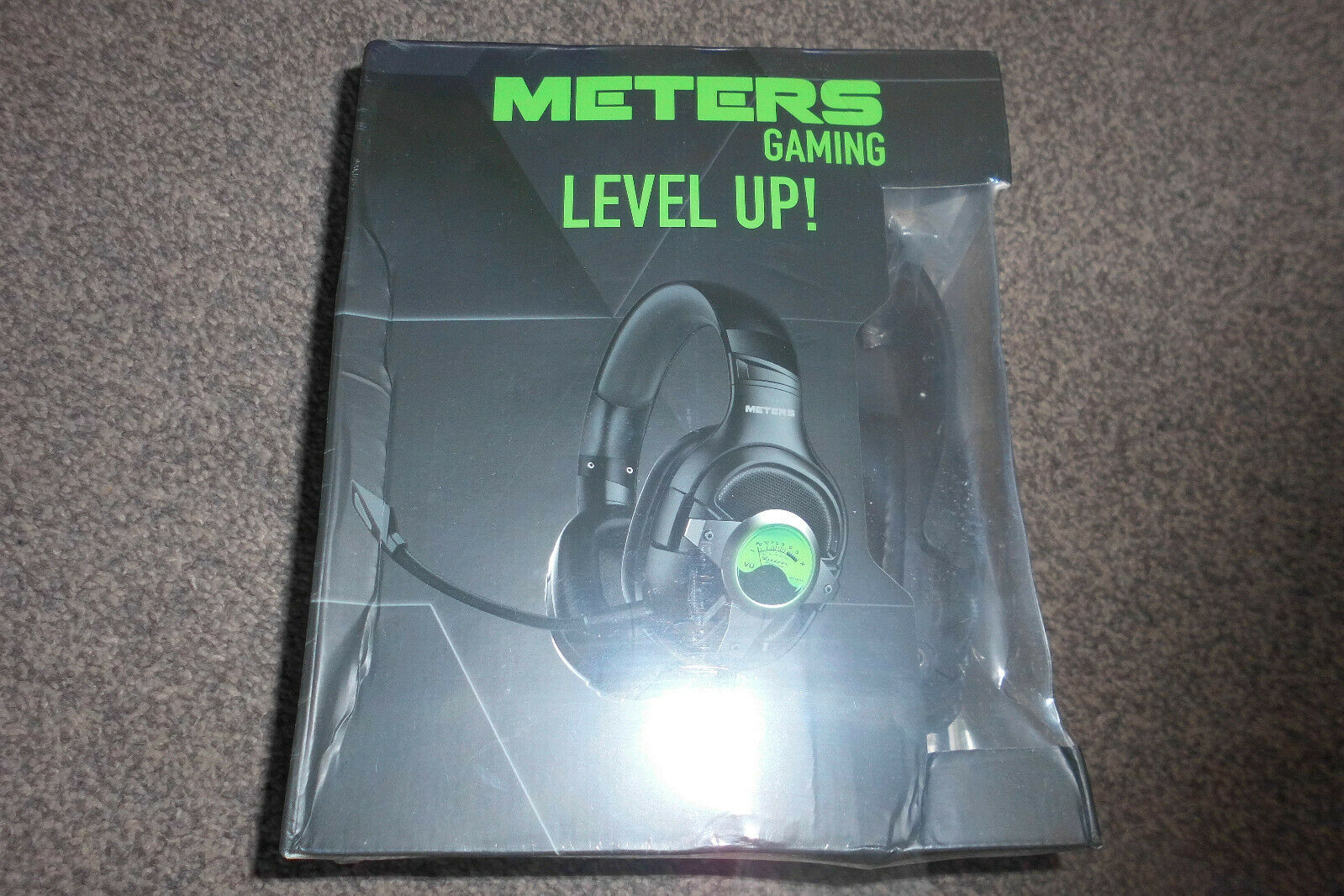 Meters Level-Up 7.1 Surround Sound Wired Gaming Headset Carbon New Sealed Rp