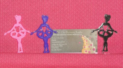 Ballerina Cupcake//Party Picks12.Plastic,Bakery Crafts,Pink,Purple,silver,fem-909