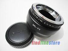 Voigtlander Retina DKL Lens to Fujifilm Fuji FX X mount X-Pro1 XE2 adapter + CAP