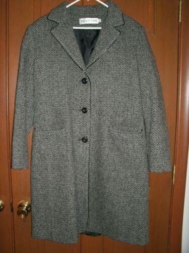 Nero donna lana Grigio 12 Giacca Taglia Mackintosh in Giacca Tweed lunga 5w0qU6