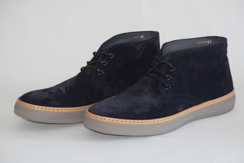 HUGO BOSS SCHUHE, Mod. Greato, Gr. 45   UK 11   US 12, Made in , Dark Blau    | Modern Und Elegant In Der Mode
