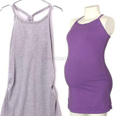 Summer Maternity Modal Vest Tank Tops Camisole Pregnant Women's Yoga T-shirt G13
