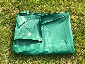 Heavy-Duty-PVC-Tarpaulin-Tarp-Ground-Sheet-Thick-Waterproof-Army-Military-Green