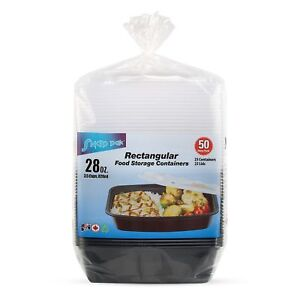 StoreMaxx Snap Pak 28oz Microwaveable Freezer Food Storage