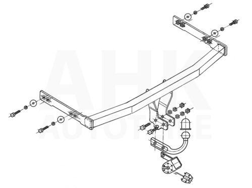 Audi A3 3//5P Hayon 96-03 Attelage fixe+faisceau 7 broches