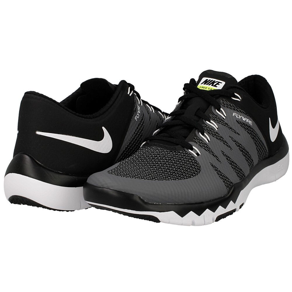 NIKE Men's Free Trainer 5.0 V6 Training shoes Black Dark Grey Volt White Size 14