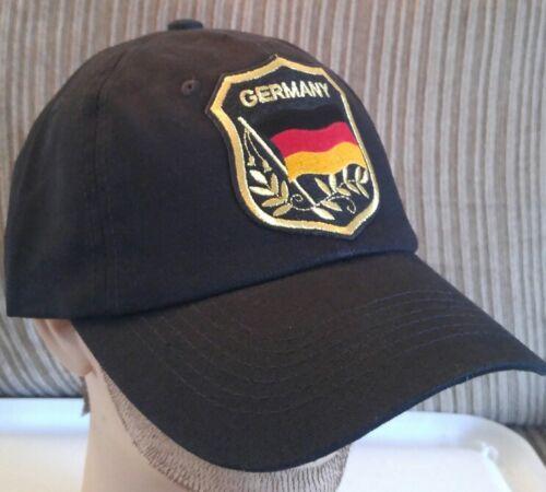 Germany Flag Baseball Cap German Flag in Shield Hat Black Unstructured Hat