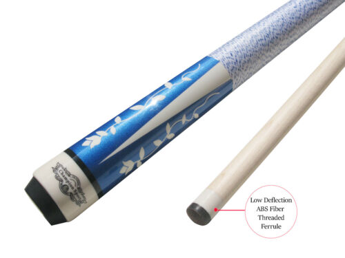 Cuetec Glove Champion Blue or Purple Pool Cue Stick with Low Deflection Shaft