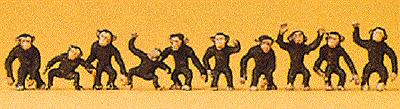HO Preiser 20388 * CIRCUS * ZOO * MONKEYS / MONKEY FIGURES  1/87 scale