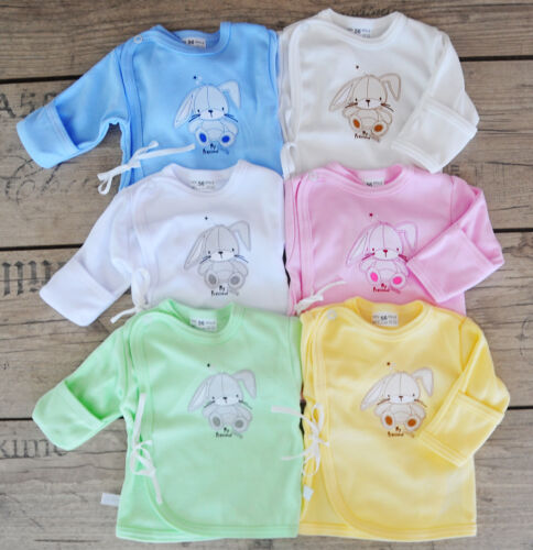 Wickelshirt mit Kratschutz Wickelhemdchen 50 56 Flügelhemdchen Baby Babyshirt