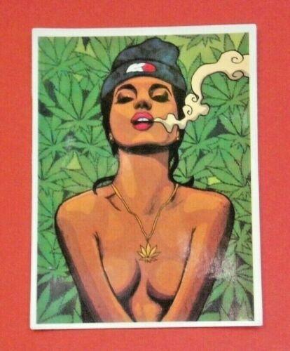 "Sticker autocollant /""Weed Smoking NAKED/"" Stickerbomb laptop skateboard"