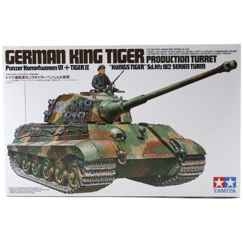 Tamiya King Tiger Tank Model Set (Scale 1 35) 35164 NEW