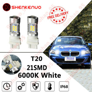 For Bmw F30 3 Series 580 7443 Cree Led White Drl Bulbs, Day Time Running Lights