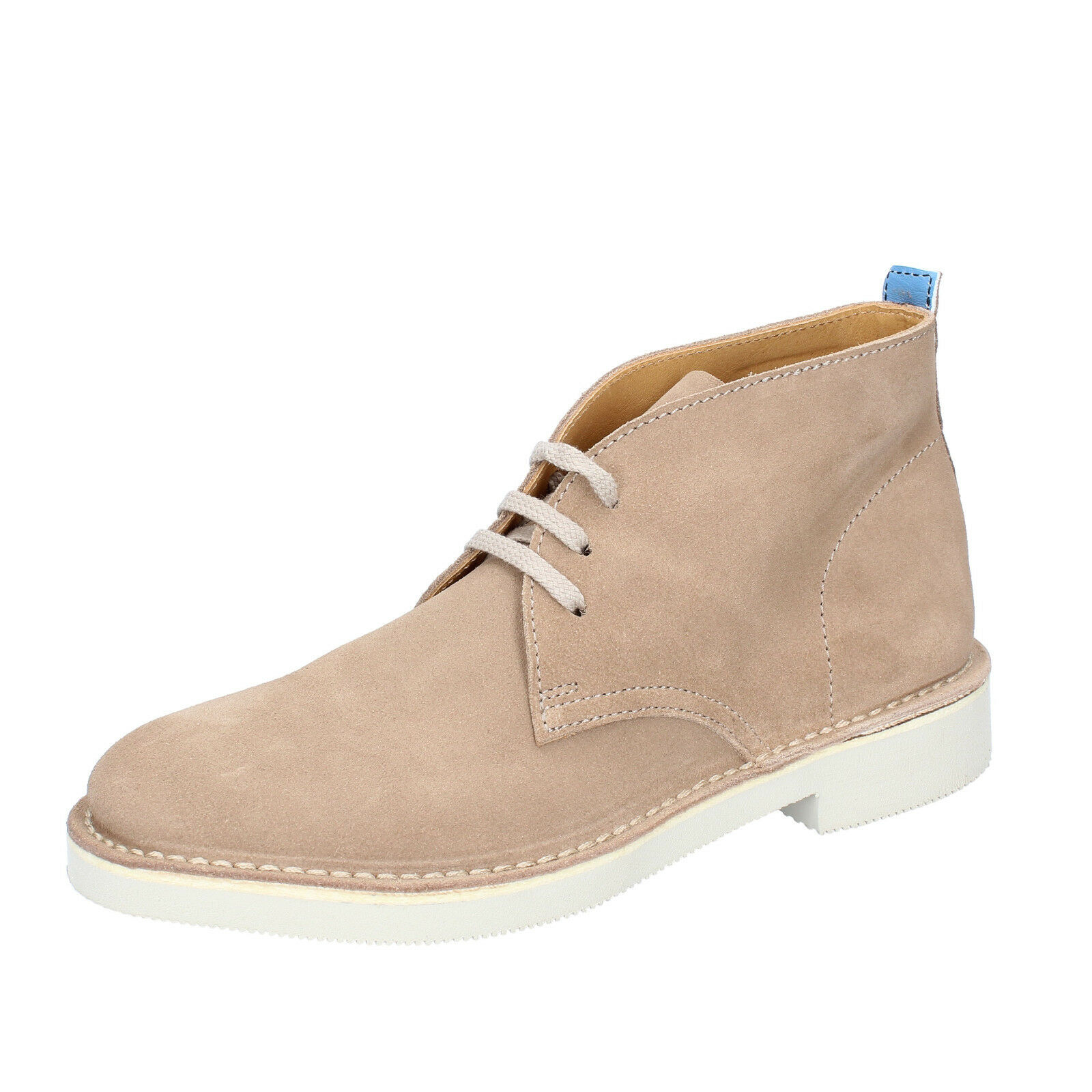 Mens chaussures MOMA 7 (UE 41) Desert bottes Beige Suede by772-41