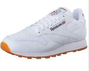 La uomini reebok uomini La moda di cuoio nero / bianco classico stile retr scarpe da ginnastica 80a48a