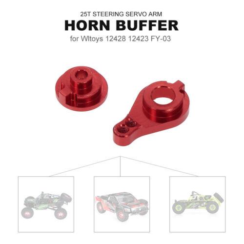 RC Car 25T Steering Servo Arm Horn Buffer for 1:12 Wltoys 12428 12423 FY-03 V0X3