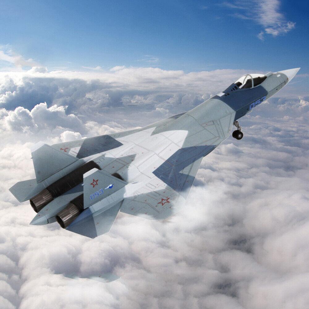 1 72 Diecast Metal Modelo chorros de combate Su-57 helicóptero militar para Niños Juguetes
