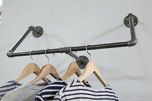 Garderobe-Kleiderhaken-Kleiderstange-Industriedesign-Stahlrohr