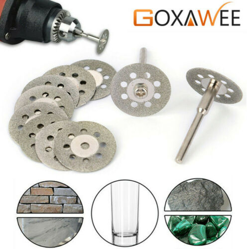 20mm 10pcs Diamond Cutting Disc Cut Off Wheel Saw Blades for Dremel Rotary Tool