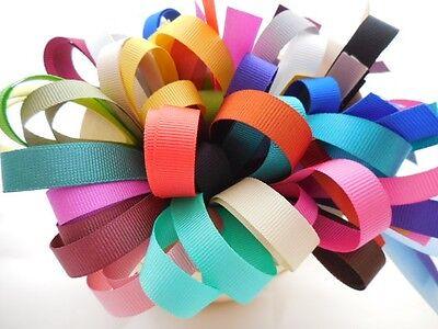 10 X 1 Metre-grosgrain Ribbon Bundle/pack-10mm-assorted Colours-craft,trim