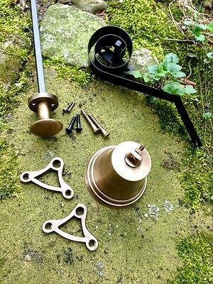 Ziehklingel, holländische Klingel, Türklingel wie antik -Alt-Messing Türglocke