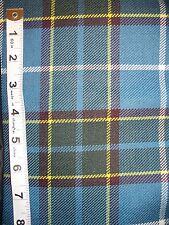 Manx Tartan Blue Fabric 1m x 150cm 100% Wool Isle of Man Manx