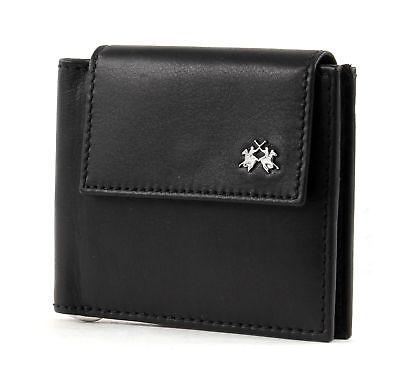 La Martina Rio Tortoni Dollari Wallet With Flap Denaro Parentesi Portafoglio Black-mostra Il Titolo Originale