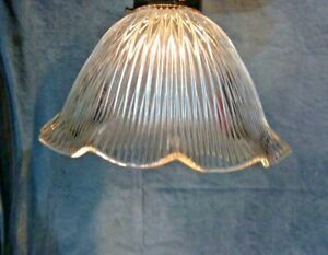 Holophane-Design-Shade-9-034-X-2-1-4-034-Glass-Globe-Pendant-Fan-Lamp-Fixture