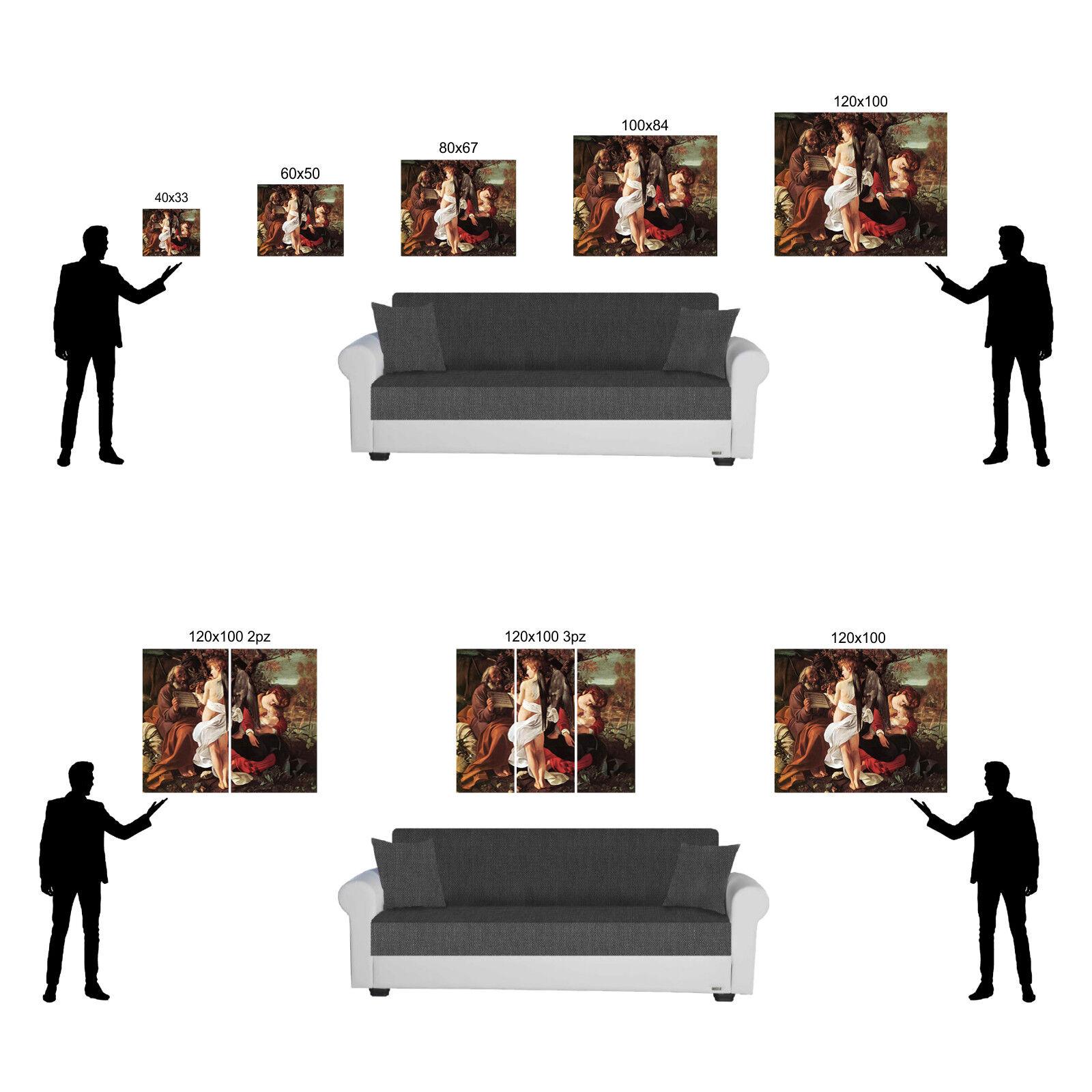 Caravaggio riposo fuga in Egitto quadro stampa tela dipinto dipinto tela telaio arRouge o casa de5abc